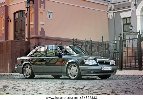 Mercedes E500 W124 Wolf On Background Stock Photo (Edit Now) 636322883