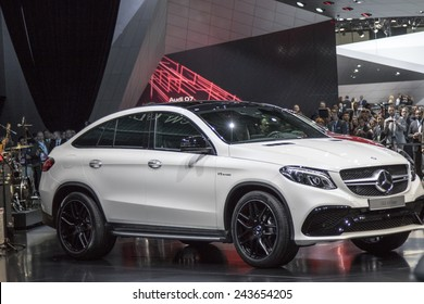 The Mercedes-Benz new 2016 GLE 63 coupe AMG Sport at The North American International Auto Show January 12, 2015 in Detroit, Michigan.