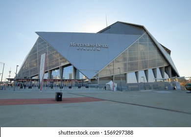 The Mercedes-Benz Stadium is a multi-purpose sports arena located in Atlanta which serves as the home of the Atlanta Falcons NFL football team - Atlanta, Georgia, USA - November 19, 2019,