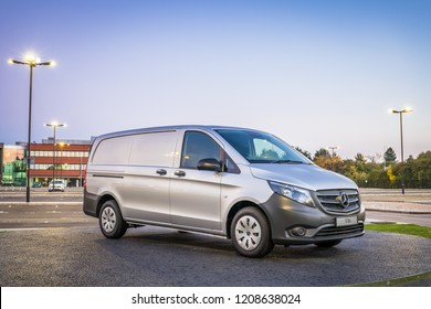 Mercedes-Benz Vito on display at Mercedes-Benz Head Office in UK:Milton Keynes,UK-October 2018