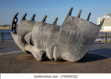 Merchant Seafarer's War Memorial, Cardiff Bay, Wales UK. 28th May 2020
