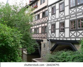 Merchants Bridge in Erfurt Germany
