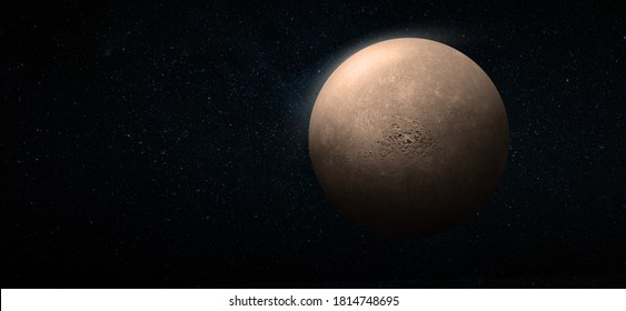 Mercury in the space. Mercury planet for wallpaper. Elements of this image furnished by NASA