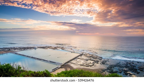 Merewether Baths and Beach at Sunrise