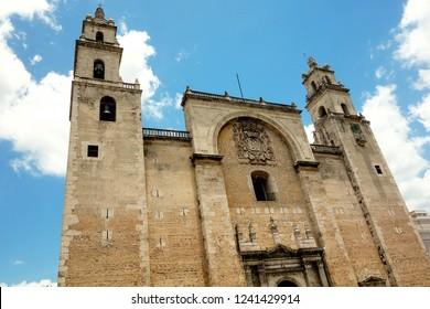 Merida cathedral, Yucatan (Mexico).