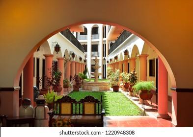 MERIDA, MEXICO - FEBRUARY 22 : Historic building on main street in Merida City Yukatan February 22, 2014 Mexico