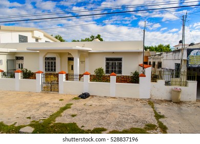 MERIDA, MEXICO - NOV 4, 2016: Architecture of Merida, the capital and largest city of the Mexican state of Yucatan