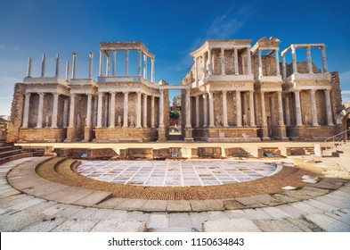 Merida roman theater, Merida, Extremadura, Spain.