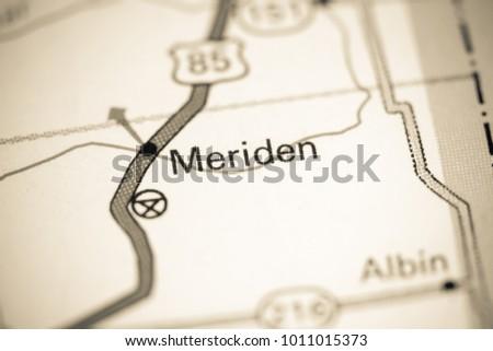 b288d2d7f27d Meriden Wyoming USA On Map Stock Photo (Edit Now) 1011015373 ...
