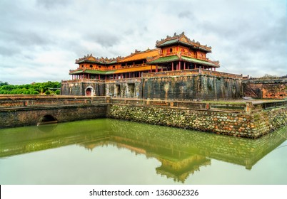 Meridian Gate to the Imperial City in Hue. UNESCO world heritage in Vietnam