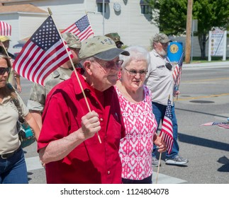 MERIDIAN, IDAHO/USA - JULY 30, 2016: Walking in support of the meridian police department during the march
