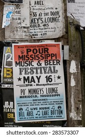 MERIGOLD, MISSISSIPPI, May 8, 2015 : Juke joint, west of Merigold.Mississippi Blues Commission placed a historic marker at Po Monkey's Lounge as one of the few authentic juke joints still operating.