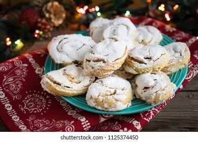 meringue cookies on festive plate