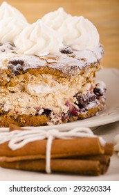 Meringue layer cake with berries