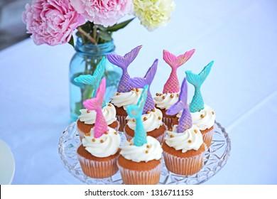 Mermaid Cupcake Arrangement