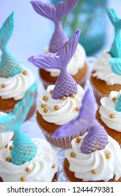 Mermaid cupcake display