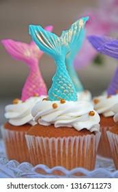 Mermaid Cupcake Turquoise