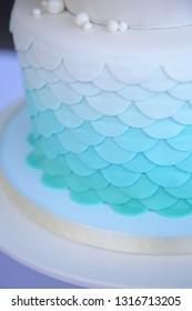 mermaid scale cake side view