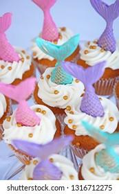 mermaid tails cupcakes vertical