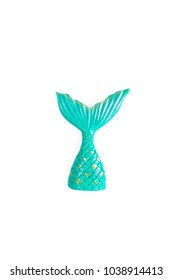 Mermaid's tail. A mermaid's tail or a fish tail made from sugar for cupcake decoration.