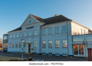 Mern Denmark -  November 17. 2017: main building of a nursing home on a sunny day
