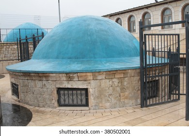MERON, ISRAEL - January 26, 2015: the tomb of Rabbi Shimon Bar Yochai, in Meron, Israel. A place where Jewish worshipers and This is an annual celebration at the tomb of Rabbi Shimon.