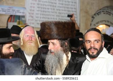 "MERON,ISRAEL- MAY 26, 2016: Orthodox Jews celebrates Lag Ba'omer in Bar Yochai tomb in Meron. Orthodox Jews, singing and dancing annual Hillula the annual ""hilula"" celebration in meron 2016"