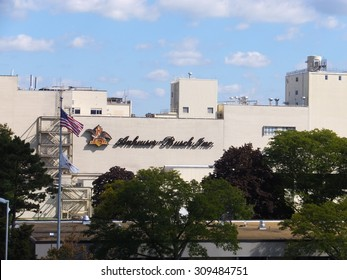 MERRIMACK, NH - SEP 26: Anheuser-Busch brewery in Merrimack, New Hampshire, the easternmost and one of their smallest plants in the United States, seen on Sep 26, 2015. It is home to a brewery tour.