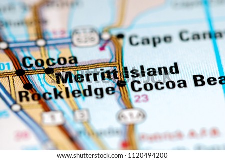 Merritt Island Florida Map.Merritt Island Florida Usa On Map Stock Photo Edit Now 1120494200