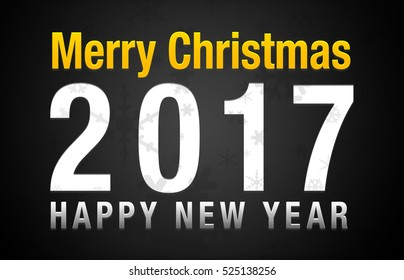 Merry christmas 2017 Happy new year black background
