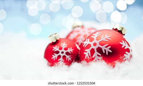 Merry Christmas Background with red   ornaments background