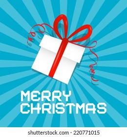 Merry Christmas Blue Illustration