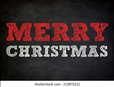 Merry Christmas - chalkboard design