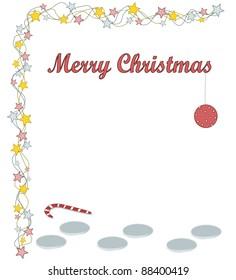 Merry Christmas - footprints