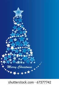 merry christmas greeting card with snowflake
