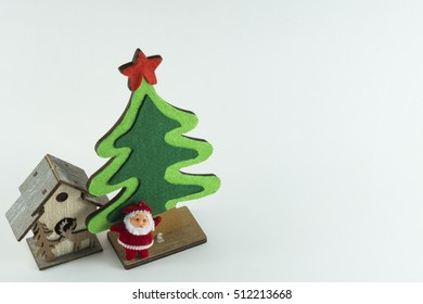 Merry Christmas and Happy New Year Concept, white background