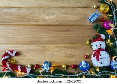 Merry Christmas and happy new year event on wood