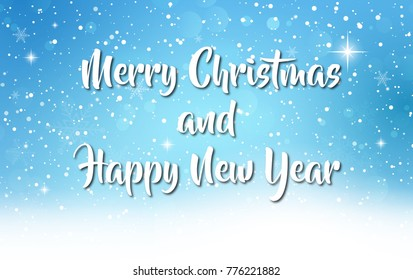 Merry Christmas and happy new year greeting card background illustration