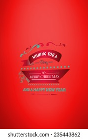 Merry christmas message against red vignette