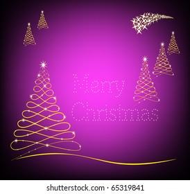 Merry Christmas in purple