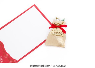 Merry Christmas sack with card