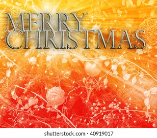 Merry christmas seasons greetings happy new year concept background illustration