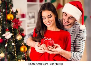 Christmas Couple Images Stock Photos Vectors Shutterstock