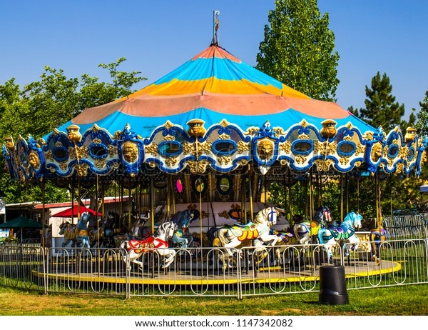 Merry Go Round At Local County Fair