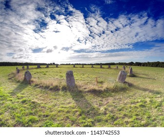 The Merry Maidens Stone Circle, Cornwall UK in the Early Morning Light