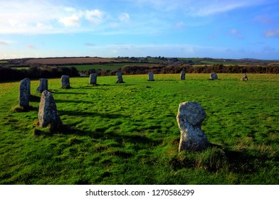 Merry Maidens Stone Circle, Cornwall UK