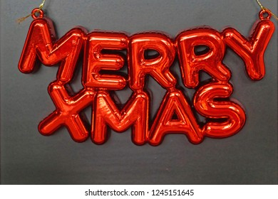 Merry Xmas red Christmas decoration letters