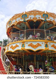 Merry-go-round or Carousel in the park