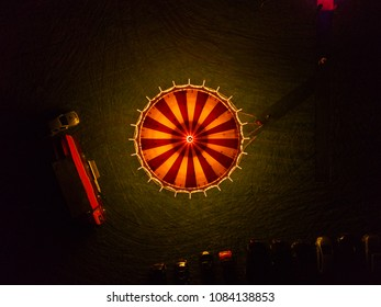 "merry-go-round at night from above - ""droney"""