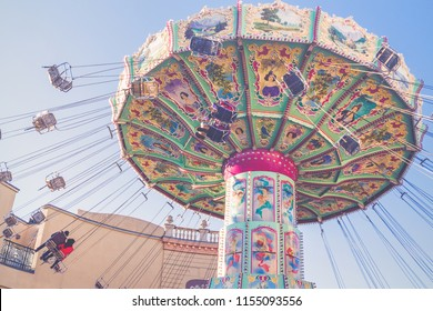 Merry-go-round at Prater in Vienna, Austria